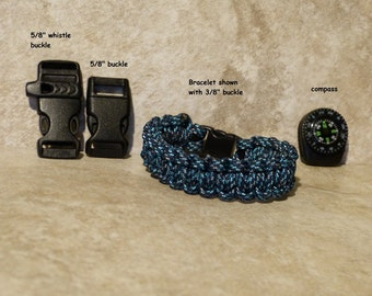 Blue Digital Camo Paracord Bracelet Survival 550 para cord compass Mens Boys Childs Hiking Backpacking Camping Gear Accessories