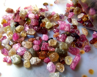 Songea Sapphires from Africa - blue brown red ruby green silver yellow  - small tiny specimens - vial necklace natural - by the gram carat