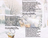 Framable Verse: Baby Jesus, Small and Sweet (Printable Digital Format) Incl 3 Designs plus Idea Sheet