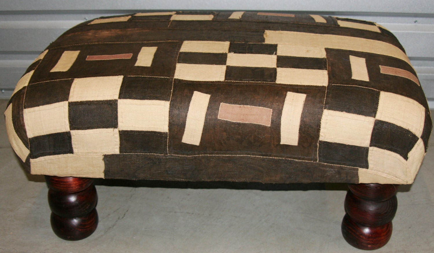 African Kuba Bench Coffee Table Ottoman By AfricanArtHomeDecor