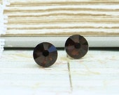 Brown Crystal Earrings Brown Stud Earrings Brown Studs Brown Crystal Studs Crystal Stud Earring