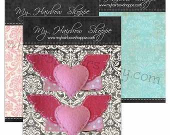 Product Backing cards,  Display cards, Damask cards