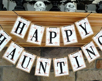 HAPPY HAUNTING Holiday Double Banner