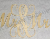 Mr and Mrs Wooden Letters - Great for a Wedding Guestbook