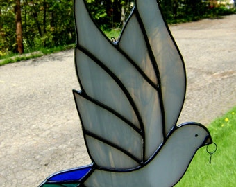 Dove Peacock Rainbow Stained Glass Wedding Engagement Memorial Mothers Day Gay Pride Pagan Handfasting Anniversary Gift