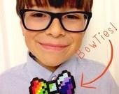 ROY G BiV perler bead bow tie/hair clip