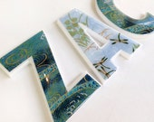 Nursery decor, decorative letters for children's room - boys names