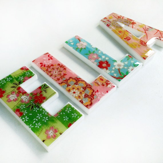 Decorative letters for children 39 s room girls names for Decorative letters for kids room
