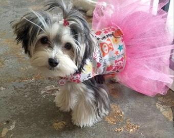 Dog Dress Harness Pink TuTu Spoiled Rotten