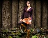 Checker Mallow Mini Skirt/ Pendleton wool hemp and Organic Cotton