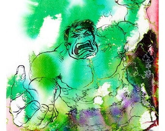 Emerald Rage! Hulk Limited Edition Fine Art Print (ONLY 25 MADE)