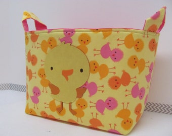 NEW Fabric Applique OWL Large Organizer Basket Storage Container Toy Bin Diaper Caddy Bag - Home Decor - Size Large - UZ Chicks