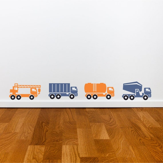 Heavy Equipment Decals : Items similar to construction heavy equipment wall decals