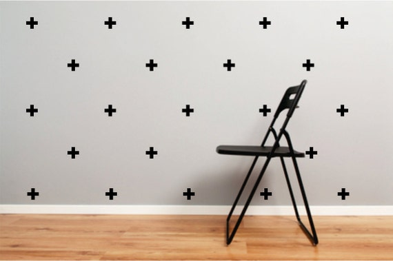 swiss cross design wall decal set of 30 cross plus sign wall decals