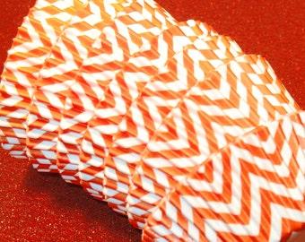 Orange Chevron Cupcake Liners  (45 Qty)