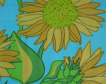 RARE SUNFLOWER FABRIC Valorie Wells for Free Spirit Rare - 1 Yard - #F21