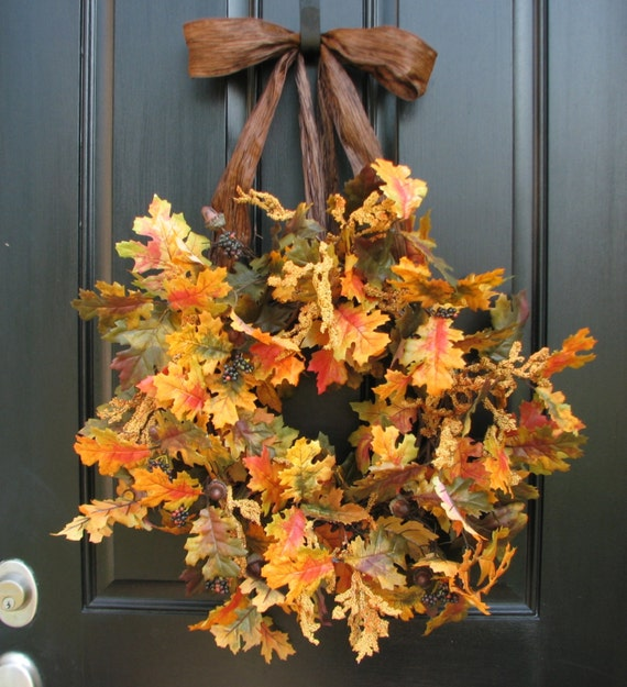 Items Similar To Faux Fall Wreaths Wreath For Fall Front