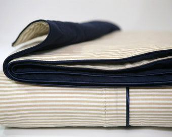 Twin duvet cover with contrast piping - essential collection - Choose your fabric & piping colors