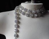 "5 Rhinestone Flowers 3"" Trim  for Bridal Sashes, Headbands, Jewelry"