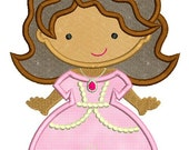 Little Sophie PRINCESS Cutie Applique 4x4 5x7 6x10  Machine Embroidery Design INSTANT Download