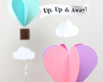 Up, up and away! Hot Air Balloon Paper Garland
