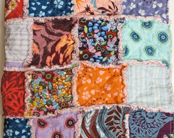 The UNION - Modern Rag Quilt Patchwork Crib Blanket