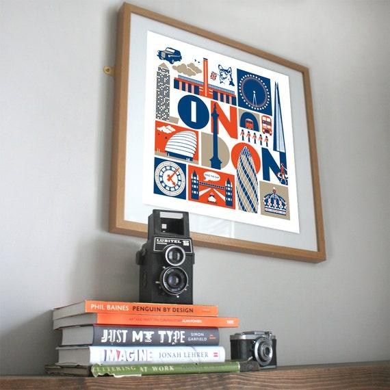 LONDON typographic print