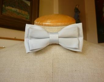 Silk Bow Tie Dove Gray 80s LUXE Formal Wear / Tuxedo / Wedding
