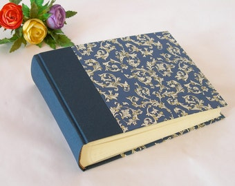 Photo album - 6x8in. 15x20.5cm - 50 pages - navy blue with navy Florentine