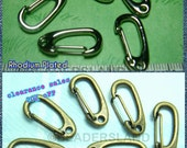 clearance -20% / Y116NC / 20 Pc / 22.5 x 11 mm - Rhodium Plated Color Key Hooks / Keychain Findings