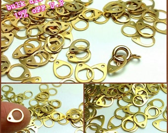 last stock -15% / J202GD / 4Gm / 8mm x 6mm - Gold Plated Clasp Connector / Link Findings