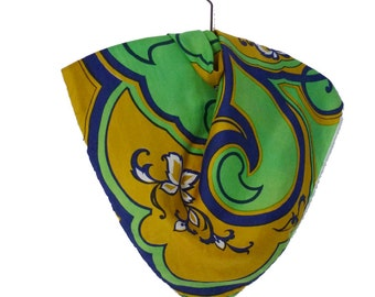 Wonderful FLOWER printed silk scarf