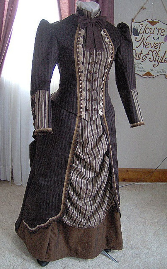 for orders only custom made 1800s victorian dress 1880s
