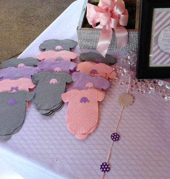 purple lilac baby shower 39 shirt 39 paper napkins or banner decoration