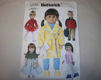 "New Butterick18"" Doll Clothes Pattern, 3329 (Free US Shipping)"