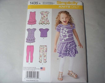 New Simplicity Girls'  Clothing  Pattern, 1435A  ( 3, 4, 5, 6, 7, 8) (Free US Shipping)
