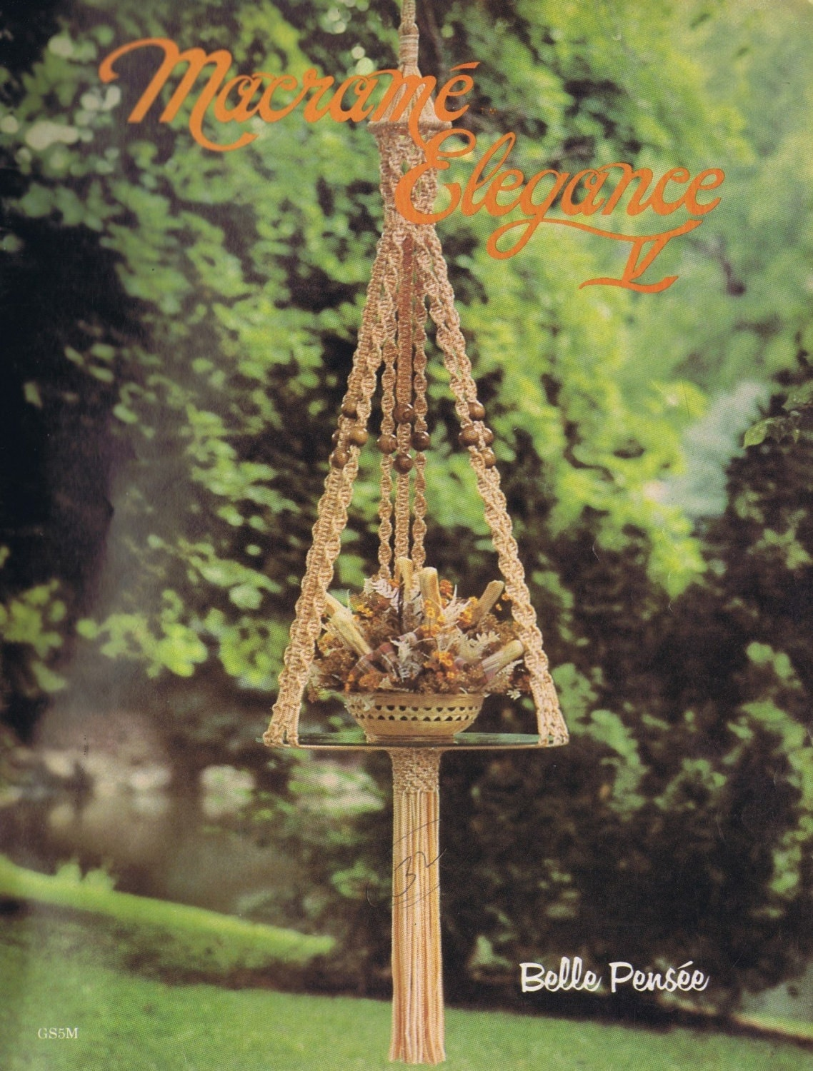 Vintage Macrame Patterns Home Decor Designs 1970s Macrame