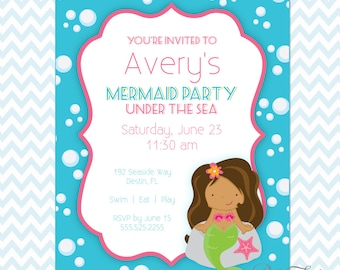 Mermaid Party Printables Instant Download - The Avery Collection