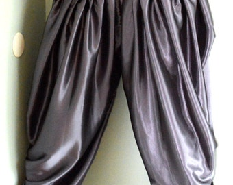 Topsycurvy beautiful Drawstring Charmeuse Satin Charcoal Hareem pants - Available in all size
