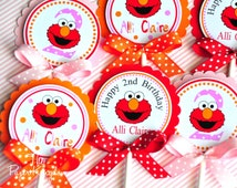 Elmo Birthday Cake Toppers