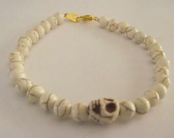 White Turquoise skeleton bracelet