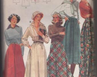 "Butterick 5580 Misses' Skirt Size 12 Waist 26 1/2"" Vintage UNCUT Pattern Rare and OOP Classic Vintage Skirt"