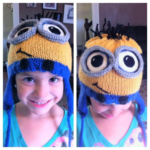 Items similar to Custom Knit Minion Hat - Despicable Me - Available in 8 size...