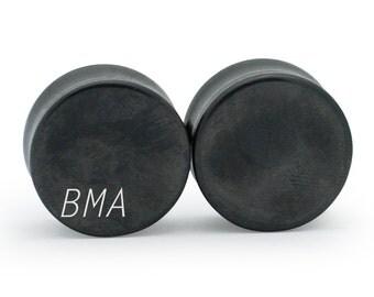 8g Raw Hematite Plugs (3mm)