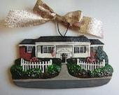 Custom listing for jgoco1982-  three Custom House Ornaments- a cherished keepsake of your home