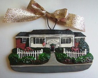 Custom listing for KathyC.-  one Custom House Ornament- By New Years Delivery