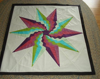 Spinning Star ( 2)  Quilt Top / Wall Hanging/Table Topper