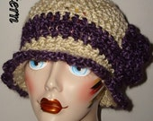 Pattern Crochet Edwardian Style Cloche Flapper Hat w/Rose Flower  ( Pdf Format in digital download) (Pattern Only) May sell finished product