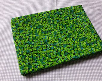 Bright green clover fabric