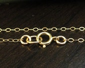 FINISHED Gold Filled Chain with clasp, 14k Flat Cable Chain, 1 PCS, 2x1.5mm  24 inch, WHOLESALE Chain